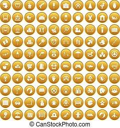 100, állhatatos, gyermekkor, arany, ikonok