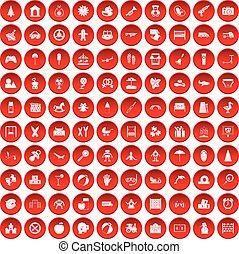 100, állhatatos, gyermekkor, piros, ikonok