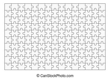 150, rejtvény, jigsaw munkadarab, sablon, tiszta