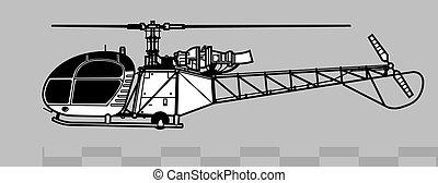 2, áttekintés, 313, alouette, vektor, 318., önvédelmi fegyverek, aerospatiale, rajz