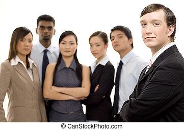 2, csoport, vezető, ügy