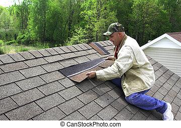 2, dolgozó, tető