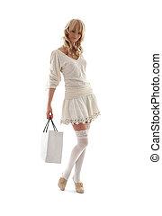 #2, táska, bevásárlás, szőke, nagyszerű