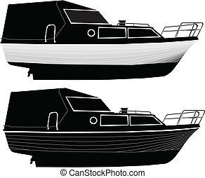 2, vektor, -, csónakázik