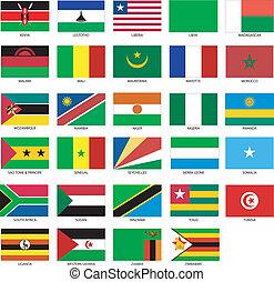 2, zászlók, afrikai