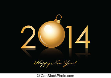 2014, év, boldog, háttér, új