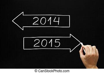 2015, haladó, előre, év