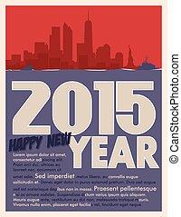 2015, köszönés kártya, év