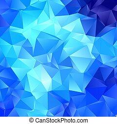 2807, háttér, elvont, alacsony, kék, poly