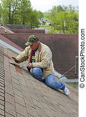 3, dolgozó, tető