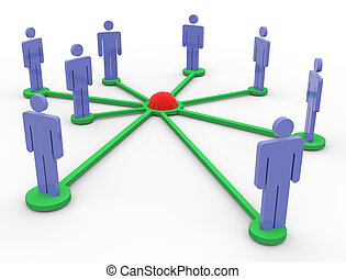 3, hálózat, emberek
