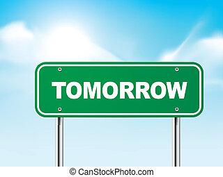 3, holnap, út cégtábla