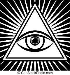 3 szem, aláír, vektor