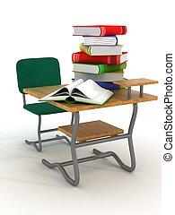 3, tanít asztal, image., textbooks.