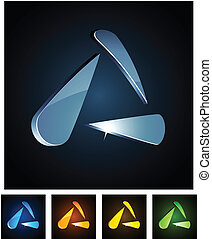 3, triangle., vibráló