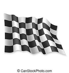 3, vektor, ábra, hullámzás, flag.