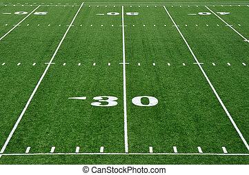 30, udvar, foci terep, amerikai, egyenes