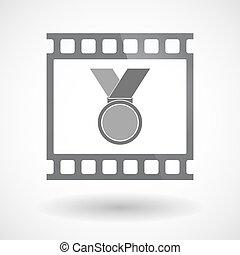 35mm film, érem, elszigetelt, keret, csúszás, photogram