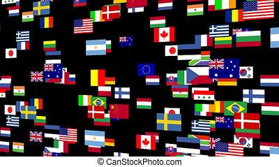 4, eleven, zászlók, világ