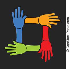 4 kezezés, befog