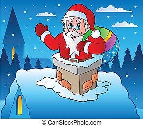 4, téma, tél, christmas táj