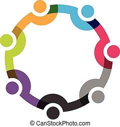 7 emberek, társadalmi, hálózat, csoport