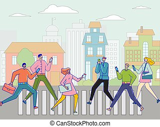 7, világ, 24, társadalmi, communication., life., digitális, online, hálózat