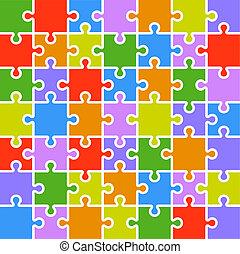 7x7, szín, rejtvény, lombfűrész, pieces., alkatrészek, template.