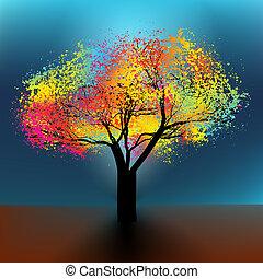8, elvont, fa., eps, színes
