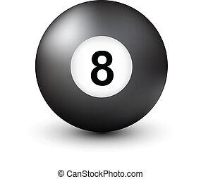 8 labda, szám, pocsolya