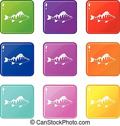 9, fish, állhatatos, ikonok