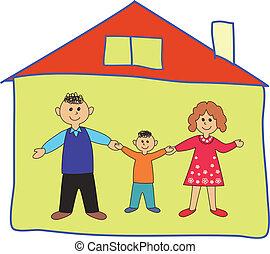 abbahagy, család, home., coronavirus.