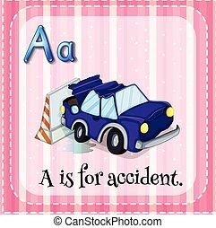 abc, baleset, flashcard