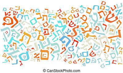 abc, háttér, héber