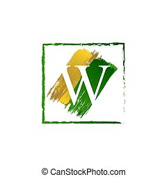 abc, jel, finom, loccsanás, arany, zöld, nyugat, levél, grunge