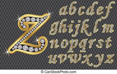 abc, káró, arany-