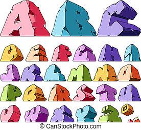 abc, többszínű