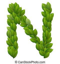 abc, zöld, zöld, levél n