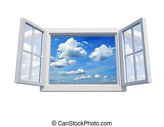 ablak, ég