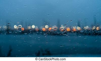 ablak, elvont, eső, 3