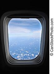 ablak, repülőgép