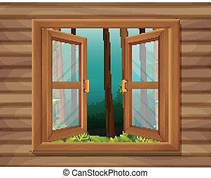ablak, színhely, természet