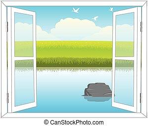 ablak, természet