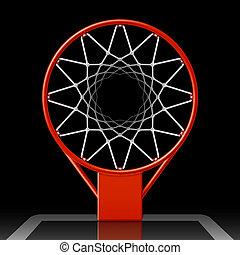 abroncs, kosárlabda, fekete