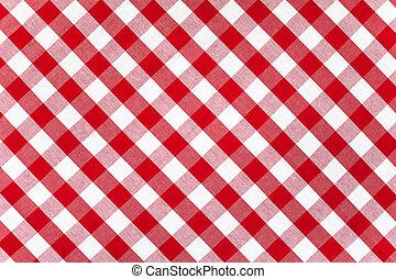abrosz, kockás, szerkezet, piros