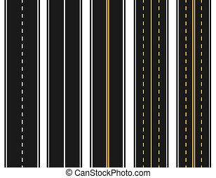 abstract., állhatatos, sárga, háttér., különféle, ábra, közútak, mintázat, fehér