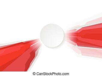 absztrahál fogalom, geometriai, háttér, piros