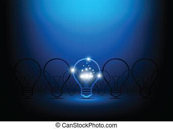 absztrahál fogalom, lámpa, kreatív