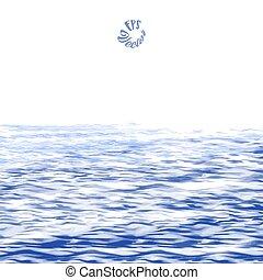absztrakt festészet, háttér, óceán
