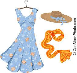 accessories., nyár ruha, romantikus
